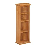 See more information about the Cotswold Oak 4 Bay CD DVD Rack