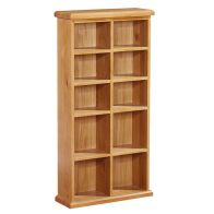 See more information about the Cotswold Oak 10 Bay CD DVD Rack