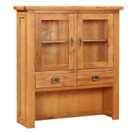 See more information about the Holkham Oak Small Hutch For Oak 2 Door 2 Drawer Sideboard