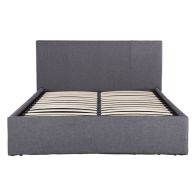 Ascot Grey Fabric End Lift Ottoman Double 4ft 6in Bed Frame