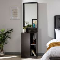 See more information about the Aspen Dressing Table Espresso 1 Door 3 Shelf