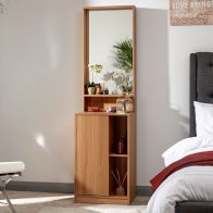 See more information about the Aspen Dressing Table 1 Door 3 Shelf Oak Style