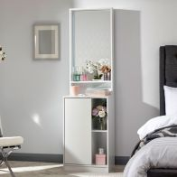 See more information about the Aspen Dressing Table White 1 Door 3 Shelf