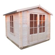 See more information about the Shire Barnsdale Untreated 19mm Garden Log Cabin & Veranda 7' x 7'