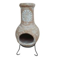 See more information about the Natural Clay Medium Garden Outdoor Chimenea Patio Heater