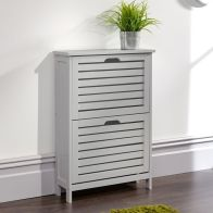 See more information about the Bergen Shoe Storage Grey 2 Door