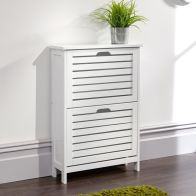 See more information about the Bergen Shoe Storage White 2 Door