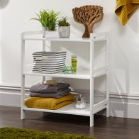 See more information about the Bergen Wide Shelving Unit White 3 Shelf