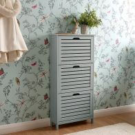 See more information about the Bergen MDF Grey Three Tier Shoe Storage Cabinet