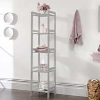 See more information about the Bergen Narrow Shelving Unit Grey 5 Shelf