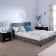 See more information about the Bed In A Box Grey Fabric Kingsize 5ft Bedstead