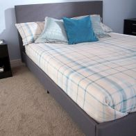 See more information about the Bed In A Box Grey Fabric Single 3ft Bedstead
