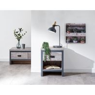 See more information about the Boston 1 Drawer Lamp Table Grey