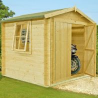 See more information about the Shire Bradley Untreated 19mm Garden Log Cabin 8' x 8'