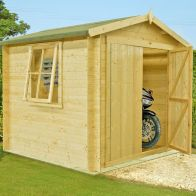 See more information about the Shire Bradley Untreated 19mm Garden Log Cabin 9' x 9'
