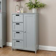 See more information about the Colonial MDF Grey 4 Drawer Multi Cabinet