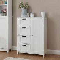 See more information about the Colonial MDF White 4 Drawer Multi Cabinet