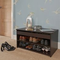 See more information about the Budget Dark Brown Two Tier Shoe Storage Cabinet