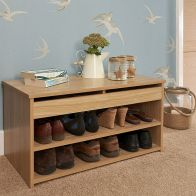 See more information about the Budget Shoe Storage 1 Door 2 Shelf Oak Style