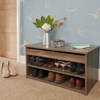 See more information about the Budget Shoe Storage 1 Door 2 Shelf Walnut Style