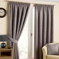 "See more information about the Fusion Belvedere Black Out Curtains (45"" Width x 54"" Drop) - Pewter"
