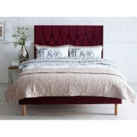 See more information about the Lansfield Velvet Red 3ft Single Bed Frame
