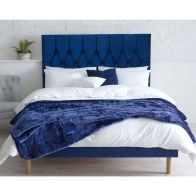See more information about the Lansfield Velvet Blue 3ft Single Bed Frame