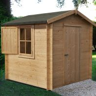 See more information about the Shire Camelot 19mm Garden Log Cabin 7' x 7'