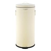 See more information about the 30L Retro Steel Waste Rubbish Kitchen Pedal Bin - Cream