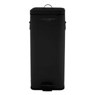 See more information about the 30L Steel Square Retro Kitchen Pedal Waste Bin - Black