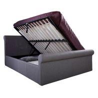 Carolina Grey Side Lift Ottoman King Size 5ft Bed Frame