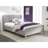 See more information about the Carnaby Upholstered King Size Bed Frame Grey