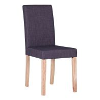 See more information about the Lancelot Straight Back Fabric Chair - Grey