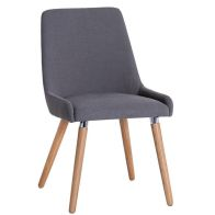 See more information about the Necton Dining Chair Grey Retro Style