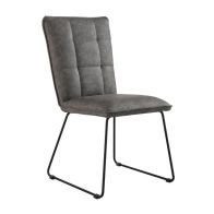 See more information about the Urban Classic Panel Back Dining Chair Grey