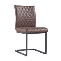 See more information about the Urban Bauhaus Diamond Stitch Dining Chair Brown