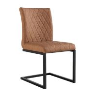 See more information about the Urban Bauhaus Diamond Stitch Dining Chair Tan