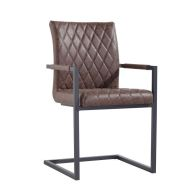 See more information about the Urban Bauhaus Diamond Stitch Carver Dining Chair Brown