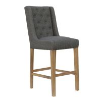 See more information about the Lancelot Button Back Studs Dining Chair Dark Grey