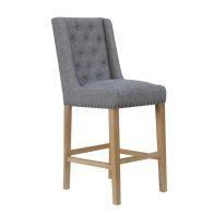 See more information about the Lancelot Button Back Studs Dining Chair Light Grey