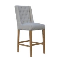 See more information about the Lancelot Button Back Studs Dining Chair Natural