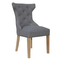 See more information about the Lancelot Winged Button Back Dining Chair Light Grey
