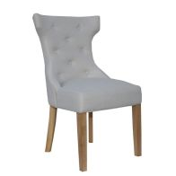 See more information about the Lancelot Winged Button Back Dining Chair Natural
