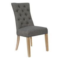 See more information about the Lancelot Curved Button Back Dining Chair Dark Grey