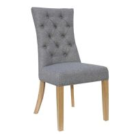 See more information about the Lancelot Curved Button Back Dining Chair Light Grey