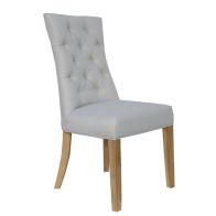 See more information about the Lancelot Curved Button Back Dining Chair Natural