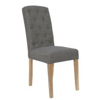 See more information about the Lancelot Upholstered Button Back Dining Chair Dark Grey