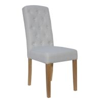 See more information about the Lancelot Upholstered Button Back Dining Chair Natural