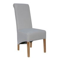 See more information about the Baxter Fabric Scroll Back Dining Chair Natural
