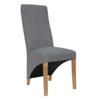 See more information about the Baxter Fabric Wave Back Dining Chair Light Grey